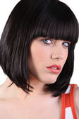 Stunning woman with a bobbed hairstyle — Stock Photo