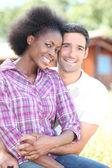 Beautiful mixed couple — Stock Photo