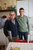 Father and son in the kitchen — Stock Photo