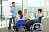 Disability at work — Stock Photo