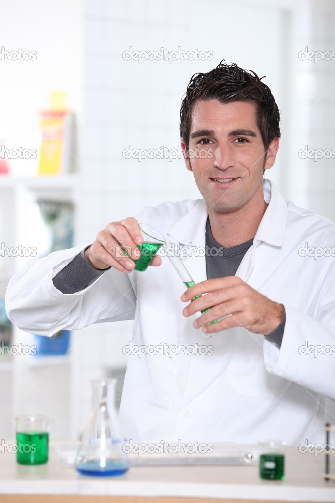 A scientist working in a lab  Stock Photo #8954119