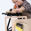 Female carpenter — Foto de Stock