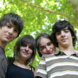 Teenagers outdoors - Stock Photo
