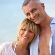 Relaxed couple in the summer — Stock Photo