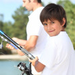 Father and son fishing — Stock Photo #8962231