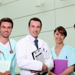 Doctor and nursing team — Stock Photo