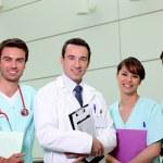 Doctor and nursing team — Stock Photo