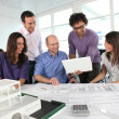 Working in an architect's office — Stock Photo #8963692