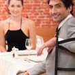 Couple on a date. — Stock Photo