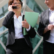 Senior businesswoman talking on her cell — Stock Photo