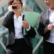 Senior businesswoman talking on her cell — Stock Photo #8964109