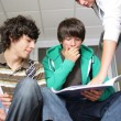 Stock Photo: Teenagers at school