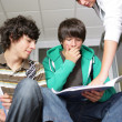 Teenagers at school — Stock Photo