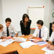 Young in a business meeting — Stock Photo