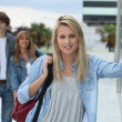 Teenagers at school — Stock Photo #8964651