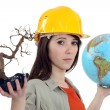 Stock Photo: Female conservationist