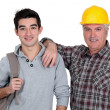 Father and son portrait — Stock Photo #8965047