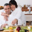 Married couple having breakfast — Stock Photo #8966051