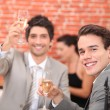 Stock Photo: Cheers and congratulation