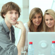 Group of students working — Stock Photo