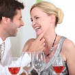 Couple at restaurant — Stock Photo #8967517