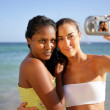 Friends taking a photo of themselves — Stock Photo