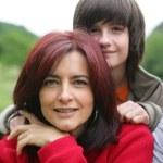 Portret van een moeder en zoon — Stockfoto