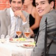 Business meeting in restaurant — Stock Photo