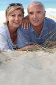 Portrait of holidaymakers at the beach — Stock Photo