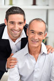 Portrait of father and son — Stock Photo