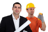 Architect and electrician — Stockfoto