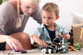 Mother playing with her little boy — Stock Photo