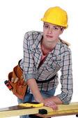Craftswoman 切割板 — 图库照片
