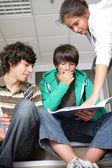 Teenagers at school — Stock Photo