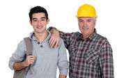 Father and son portrait — Stock Photo