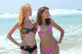 Two teenage girls in bikini — Stock Photo