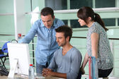 Group of designers in office — Stock Photo
