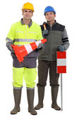 Road-side workers — Stock Photo