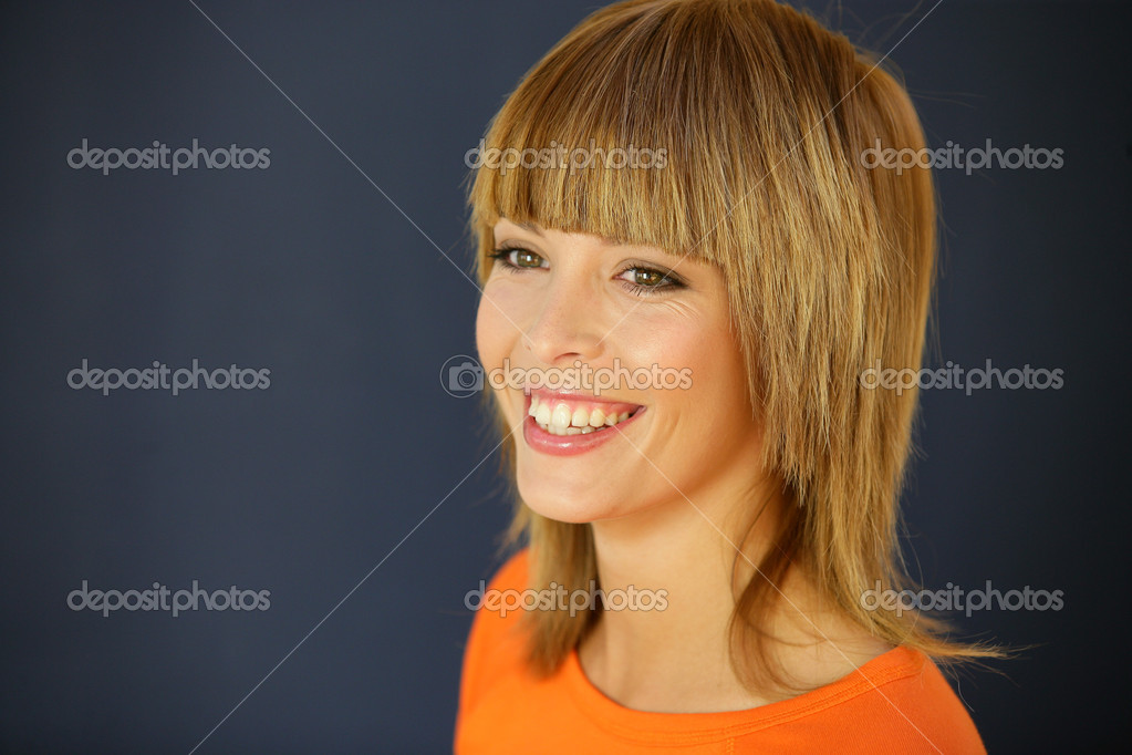 Young woman with bright smile — Stock Photo #8961540