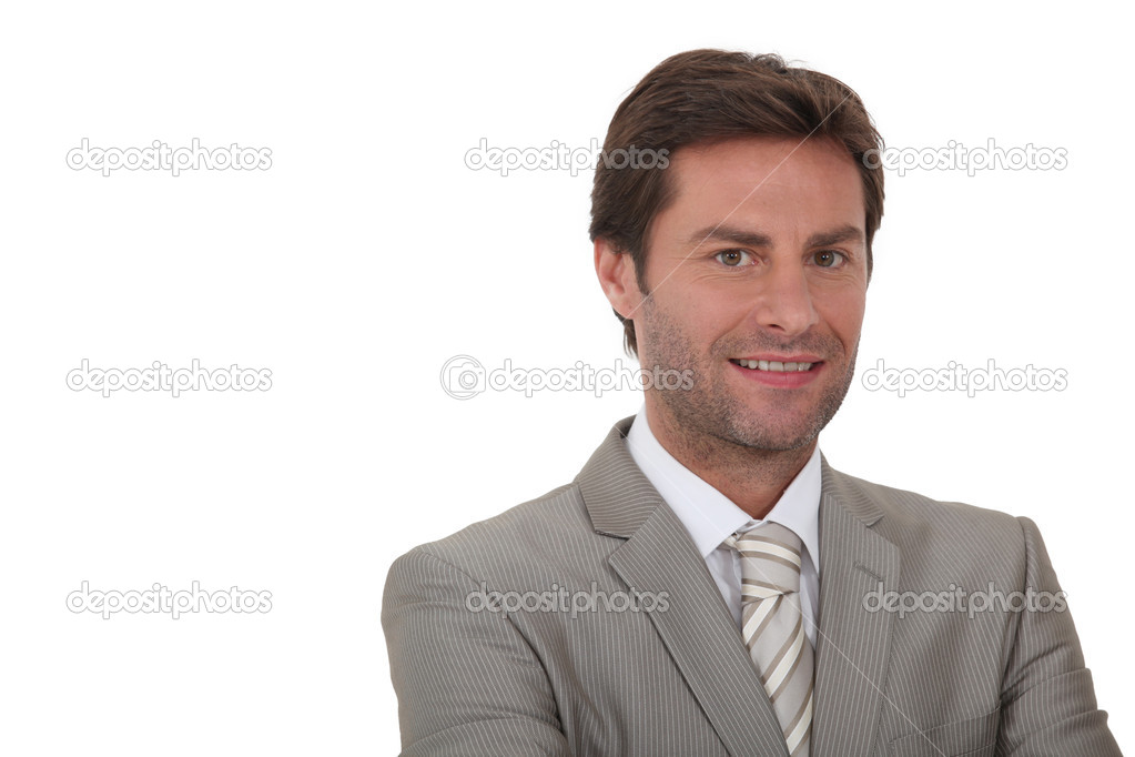 Man wearing grey suit — Stock Photo #8963150