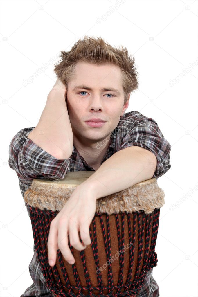 A man playing the drum. — Stock Photo #8963666