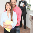 New property owners — Stock Photo