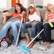 Fed up of housework — Stock Photo