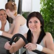 Young women doing fitness — Stock Photo