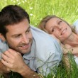 Couple in the grass — Stock Photo