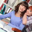 Stock Photo: Friends studying together