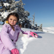 Stock Photo: Little girl in the snow