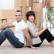 Couple moving house — Stock Photo #8971926