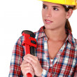 A cute female plumber. — Stock Photo #8972302