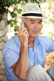 Portrait of a man on the phone — Foto Stock